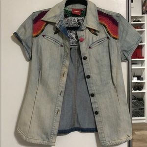 NWOT Oilily jean blouse
